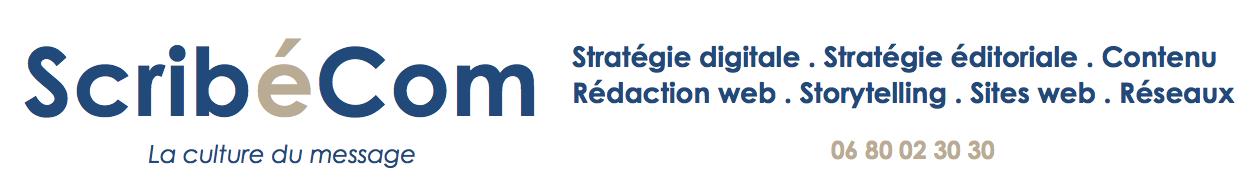 Stratégie digitale – Rédacteur web – Conception-Rédaction – Contenu. Par ScribéCom